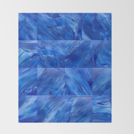 blues en tous sens / square blues Throw Blanket