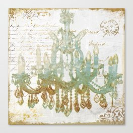 Sea Foam Chandelier Paris Canvas Print