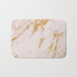 Rose Marble and Gold Bath Mat
