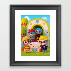 Turtle Boy's Gang Framed Art Print