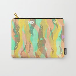 Life at the bottom of the ocean, abstract wild underwater print Carry-All Pouch