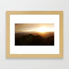 Smoky Mountain Sunset Framed Art Print