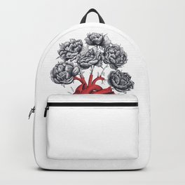 Heart with peonies Backpack