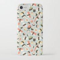 novelty iPhone & iPod Cases featuring Yummy Sushi! by Eine Kleine Design Studio