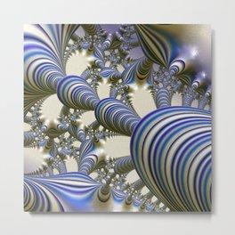 amazing fractal 6181 blue Metal Print