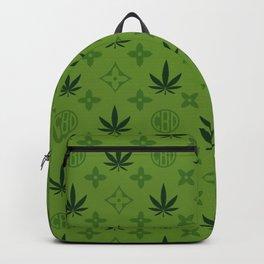 Green Marijuana pattern. Digital illustration. Vector illustration background Backpack