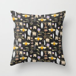 Weird Unusual Pattern On Charcoal Throw Pillow