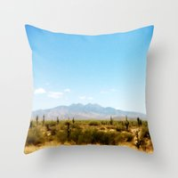 southwest Throw Pillows featuring Painterly Southwest by Mister Groom