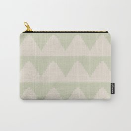 Geometric Pyramid Pattern - Soft Green Carry-All Pouch