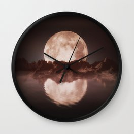 Misty Moon Wall Clock
