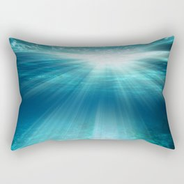 Light Rays Underwater Rectangular Pillow