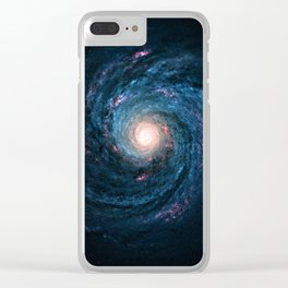 Galaxy Tornado Full of Stars Clear iPhone Case