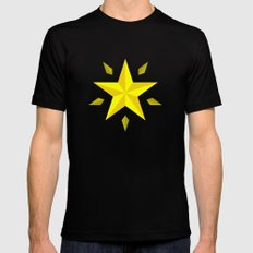 Gold Star/ Blue Mens Fitted Tee Black MEDIUM