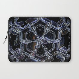 Water as a Crystal, pattern snowflake art on leggings and more! Laptop Sleeve