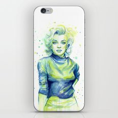 Marilyn Portrait Watercolor Painting Actress Old Hollywood iPhone & iPod Skin