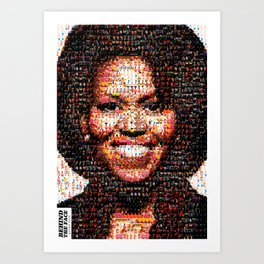 BEHIND THE FACE Michelle Obama | fat women Art Print