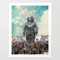"""Flower diver"" Art Print"