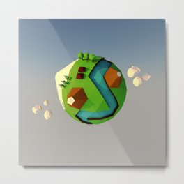 My little planet Metal Print