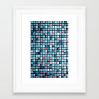 square Framed Art Prints featuring square by Claudia Drossert
