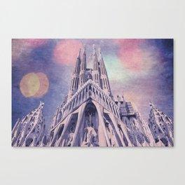 Barcelona Sagrada Familia Canvas Print