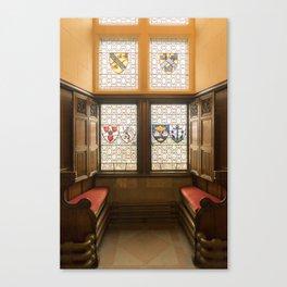 Edinburgh castle stained glass windows Scotland Canvas Print