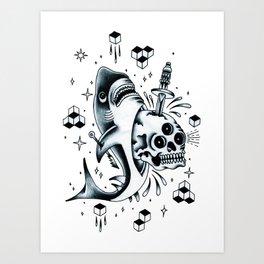 Calavera Tiburón. Art Print