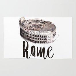 Rome watercolor Rug