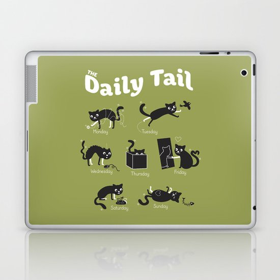 The Daily Tail Cat Laptop & iPad Skin