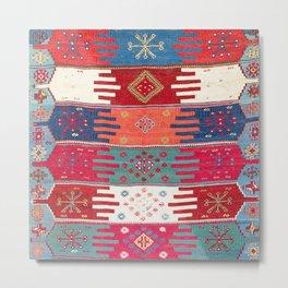 Kurdish Malatya East Anatolian Saf Kilim Print Metal Print