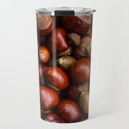 Castanea Chestnuts Nuts pattern Travel Mug