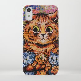 Cat and Her Kittens-Louis Wain Cats iPhone Case