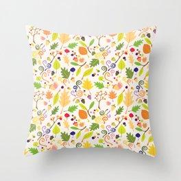 Fall Confetti Throw Pillow