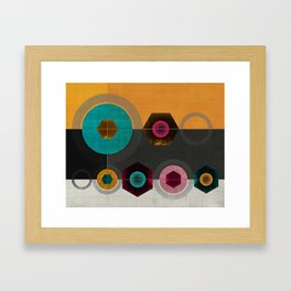 Geometric Hex & Circle Framed Art Print