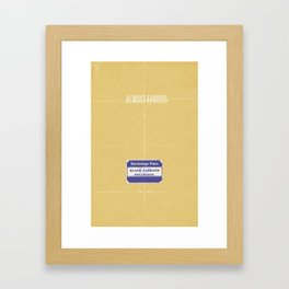 Almost Famous minimalist poster Framed Art Print