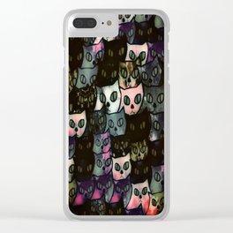 cat-115 Clear iPhone Case