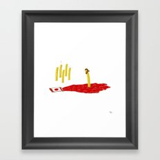 Lord of the Fries Framed Art Print