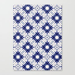 Watercolor Shibori Blue Canvas Print