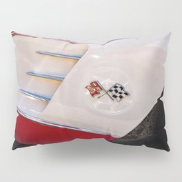 Classic Red Antique Hot Rod Muscle Car Man Cave Convertible Pillow Sham