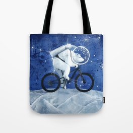Polar bear on the Moon Tote Bag