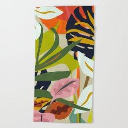 Jungle Abstract 2 Beach Towel