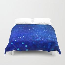 Abstract blue bokeh light background Duvet Cover