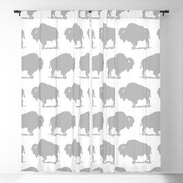 Buffalo Bison Pattern 268 Grey Blackout Curtain