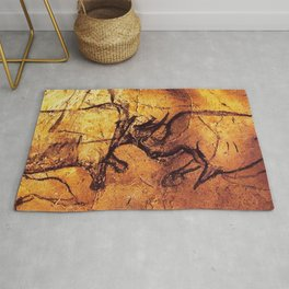 Fighting Rhinos // Chauvet Cave Rug