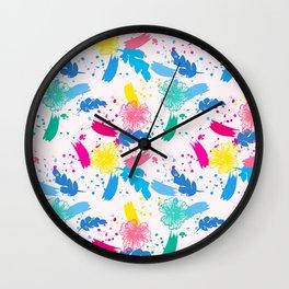 Colorfull Pop Art Pattern Wall Clock