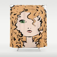 merida Shower Curtains featuring Merida by Crousticro