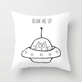 Beam Me Up Throw Pillow