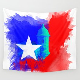 San Juan P.R Watercolor Wall Tapestry