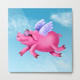 flying pig Metal Print