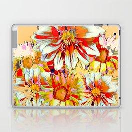 WHITE-RED FLOWER STILL LIFE CREAMY PASTELS Laptop & iPad Skin