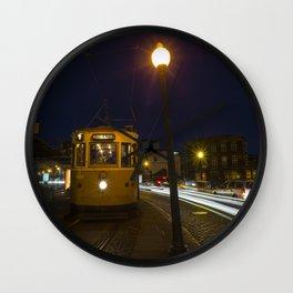 Porto Night Tram Wall Clock
